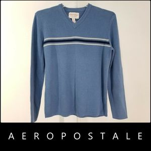 Aeropostale Men Knit Sweater Size Medium Blue